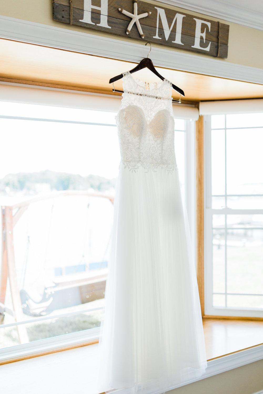 baltimore wedding photography - wedding dress detail shots