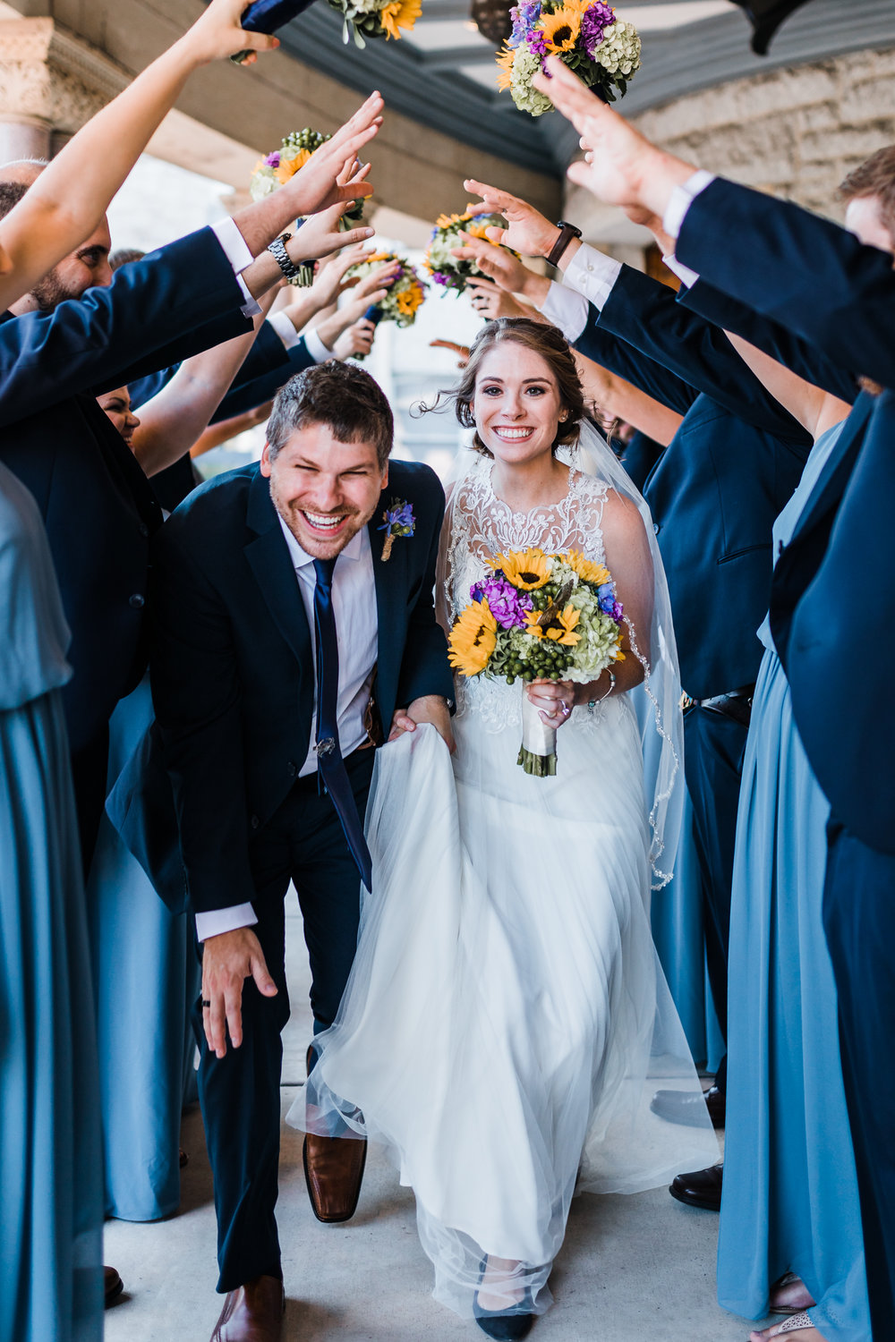 bridal party photo ideas - blue weddings - real weddings in baltimore maryland