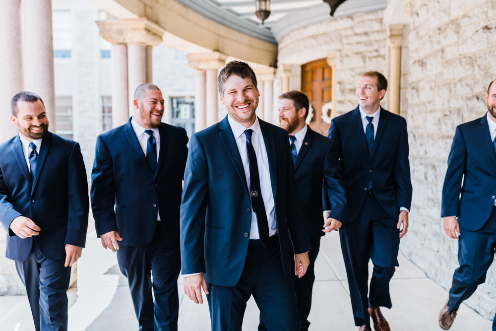 navy weddings in navy suits inspiration - baltimore maryland wedding photographer and videographer - husband and wife team