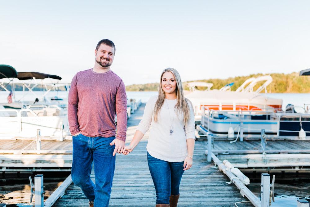 Maryland engagement and wedding photographer - lake engagement - pontoon engagement session