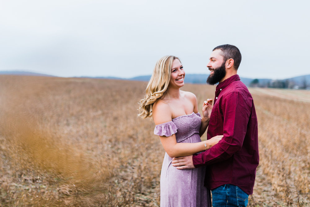 farm engagement session in Frederick, Maryland