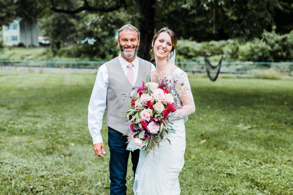 Maryland wedding photographer - dad first look