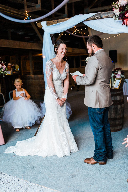 barn wedding ceremony - maryland weddings - diy wedding inspo