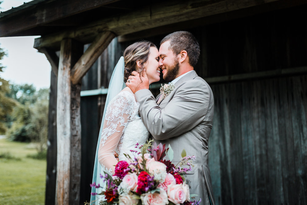 bride and groom portraits in Maryland wedding