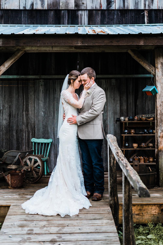 lovely farm bride and groom photos