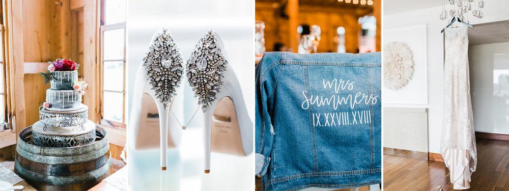 Maryland Wedding Photographer - wedding details - bride shoes - wedding cake inspo - bridal jean jacket