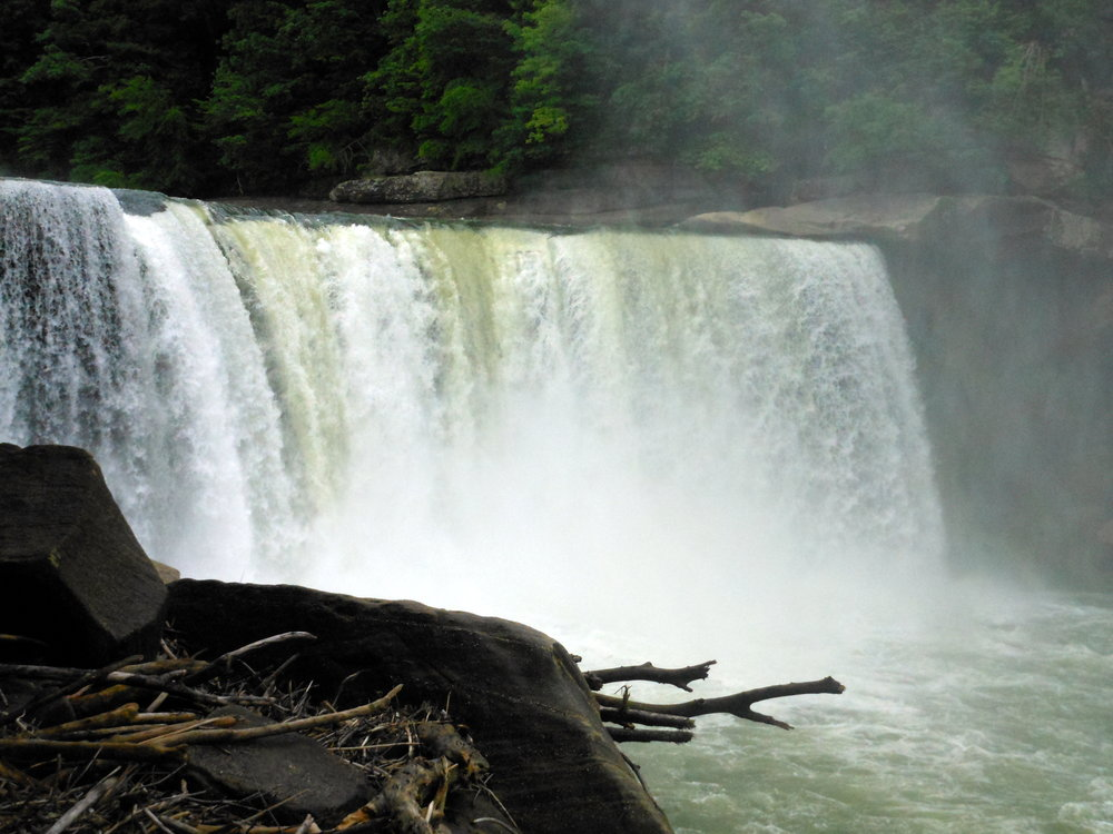 Cumberland Falls, near Corbin, KY is often called the Niagara of the South.