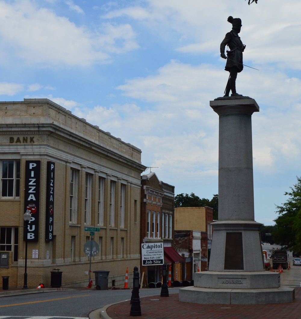 Spartanburg, SC - Just a short distance from the Blue Ridge Mountains, this Upcountry South Carolina City is filled with revolutionary stories, from famous battles nearby to revolutions in industry.