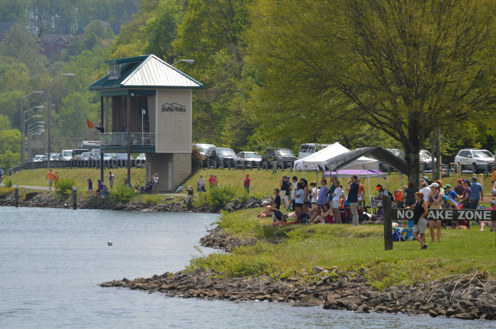 Several years ago, a new rowing tower was put along the Melton Lake course.