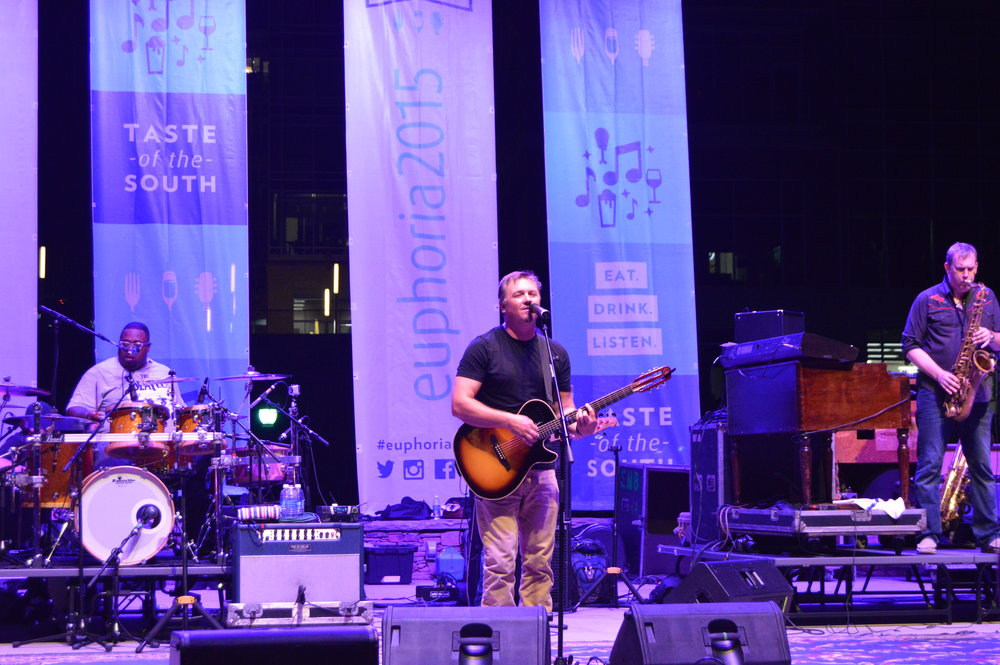 Edwin McCain, co-founder of Euphoria and Greenville, SC native, has headlined many of the concerts at Euphoria over the years.