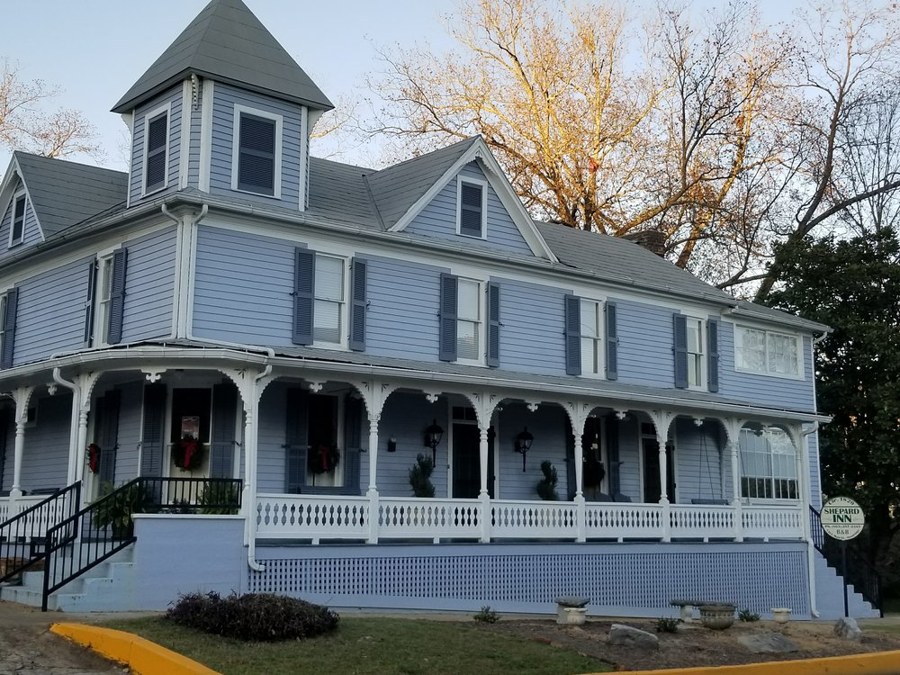 The Shepard Inn along Main Street is one of many historic buildings scattered throughout the town.