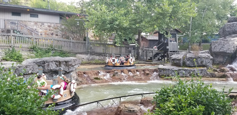 The River Rampage was the first ride added when the park transformed from Silver Dollar City to Dollywood.