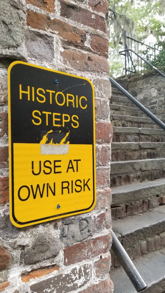 Historic steps in Savannah