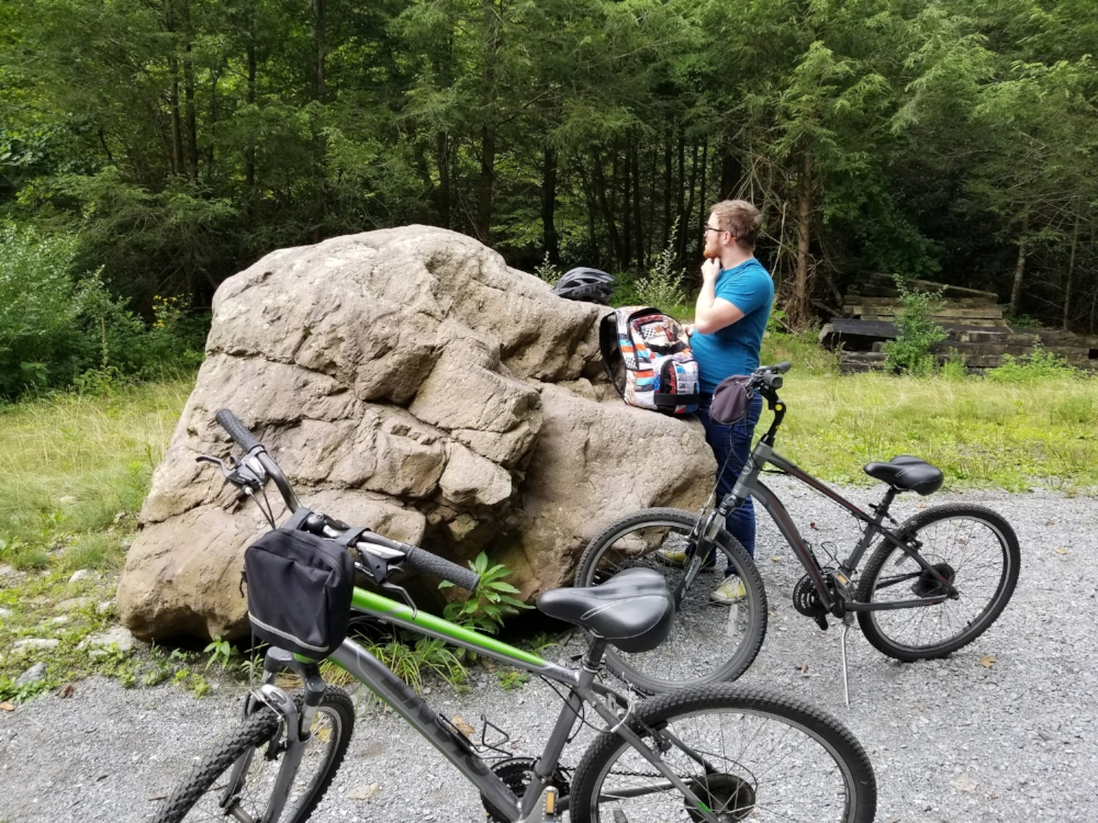 Be sure and drink lots of water and pack a few snacks while on the Virginia Creeper Trail.