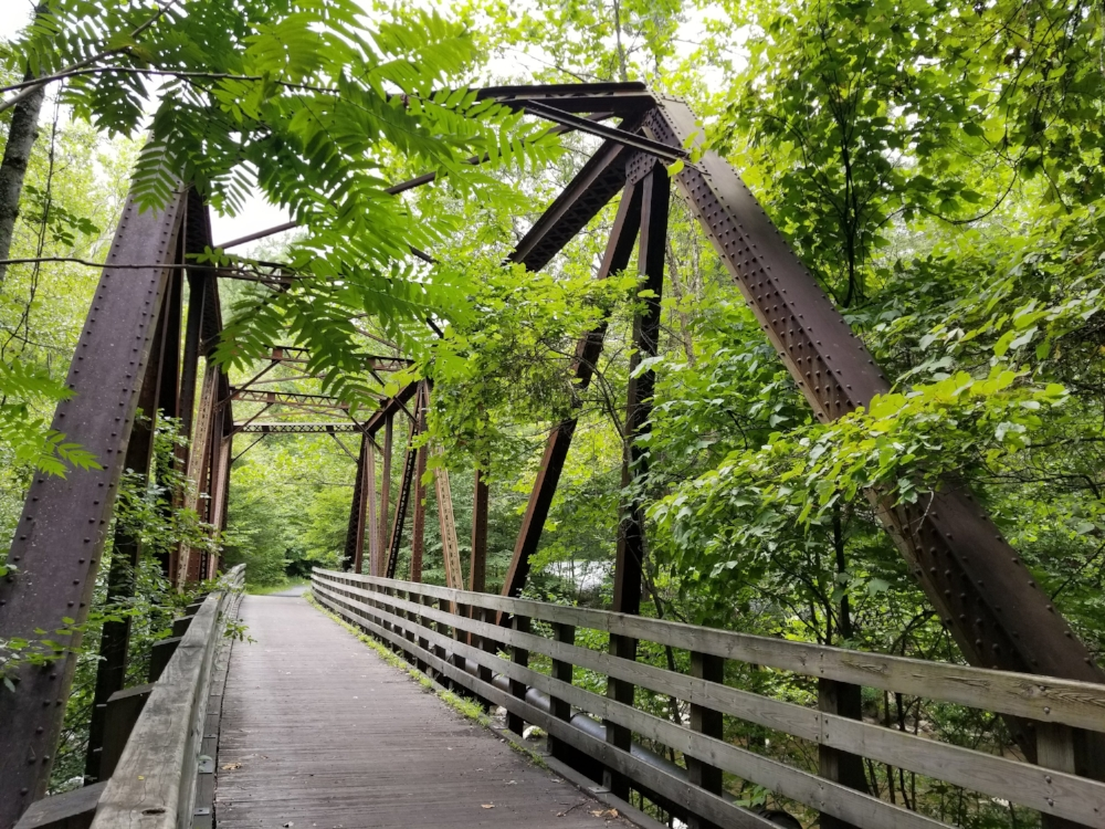 This old iron bridge is a landmark along the Virginia Creeper Trail.