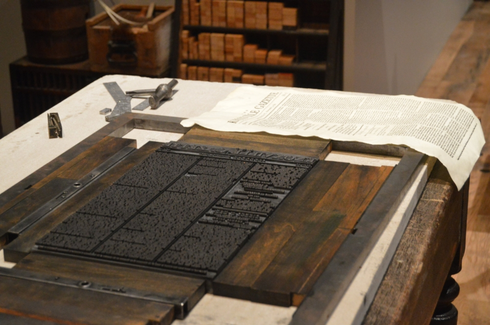 Printing press from the 18th Century