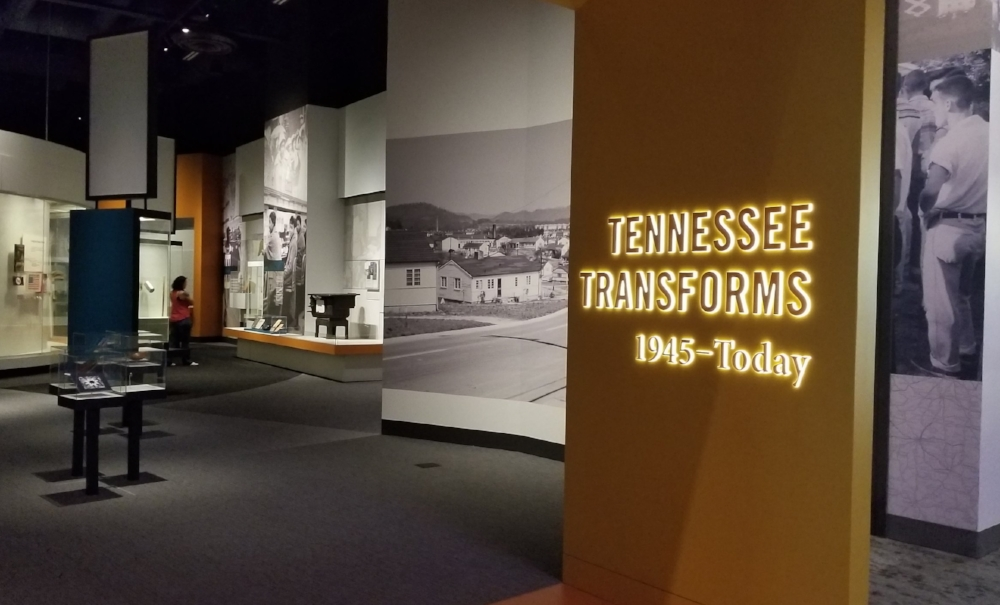 20th & 21st Century exhibit space in the Tennessee State Museum