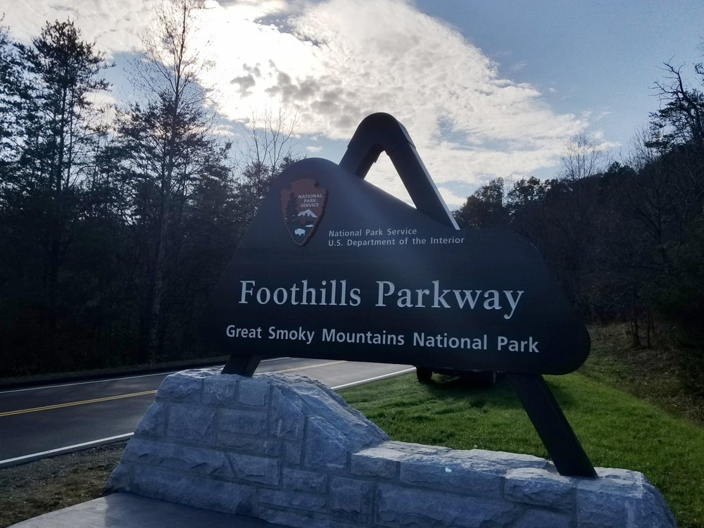 Foothills Parkway Entrance Sign