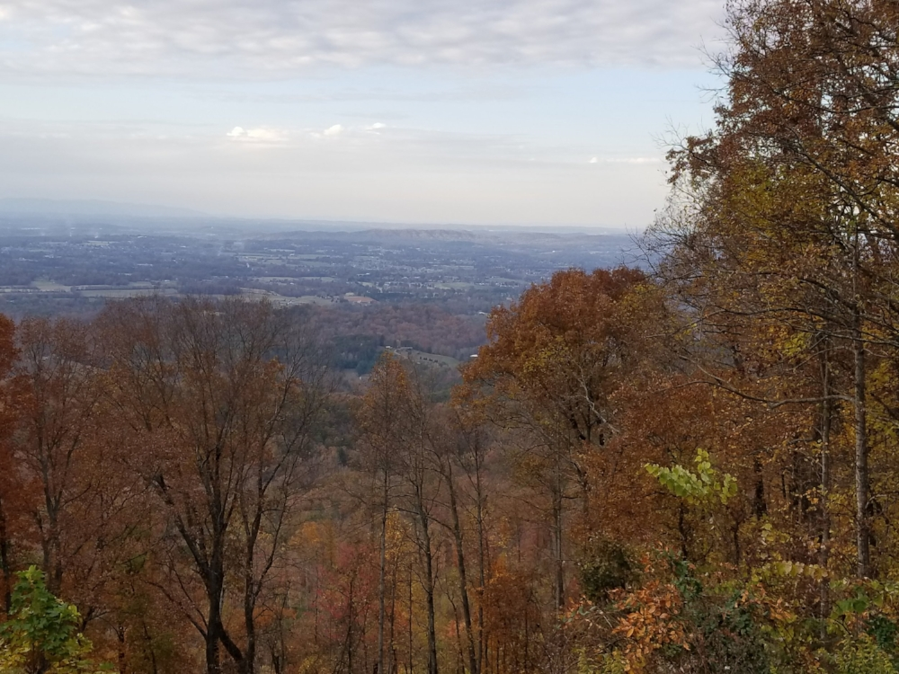 The Foothills Parkway runs along the top of Chilhowee Mountain providing amazing views of the valley and the Smoky Mountains.