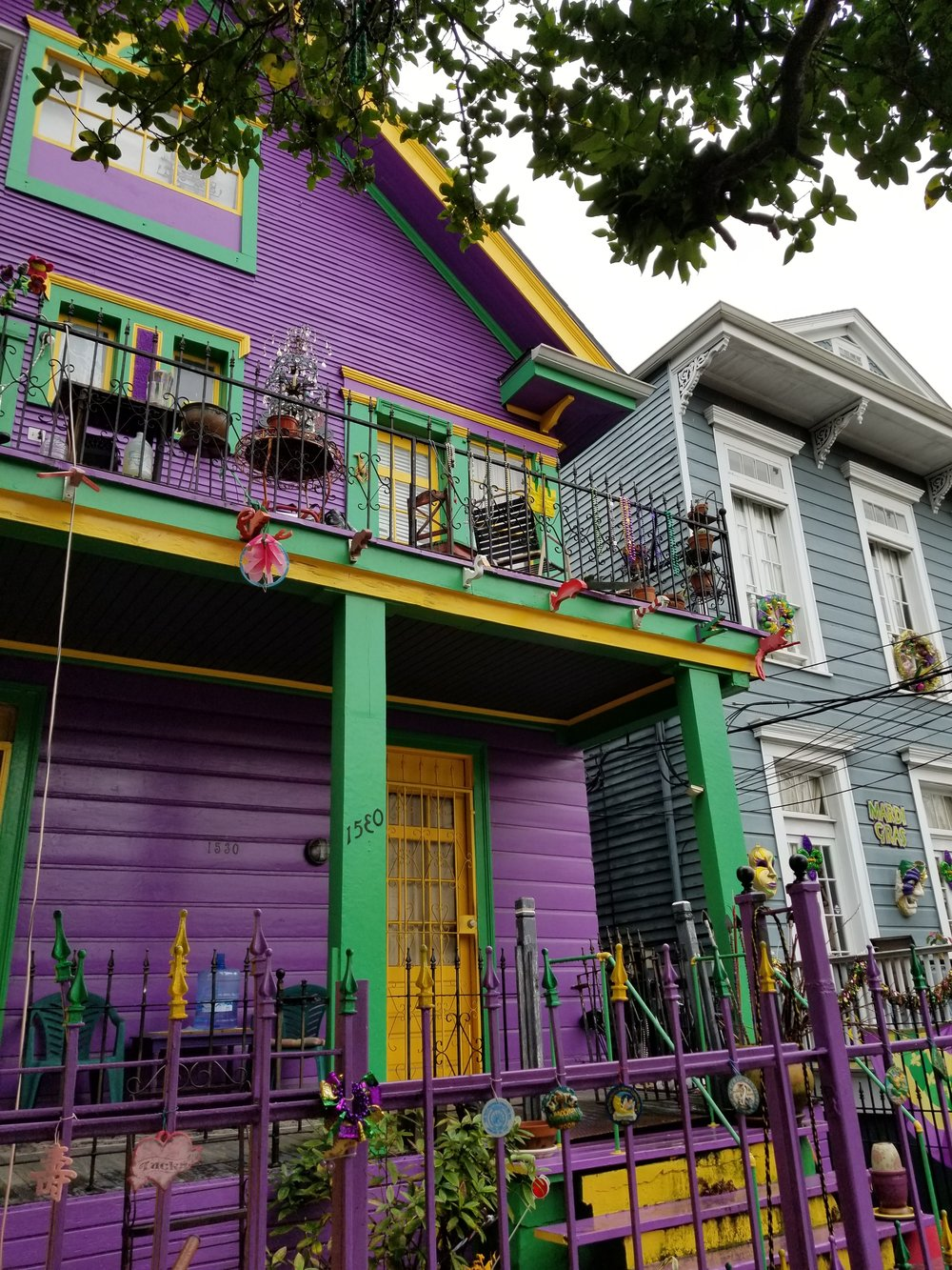 Mardi Gras Color House in New Orleans