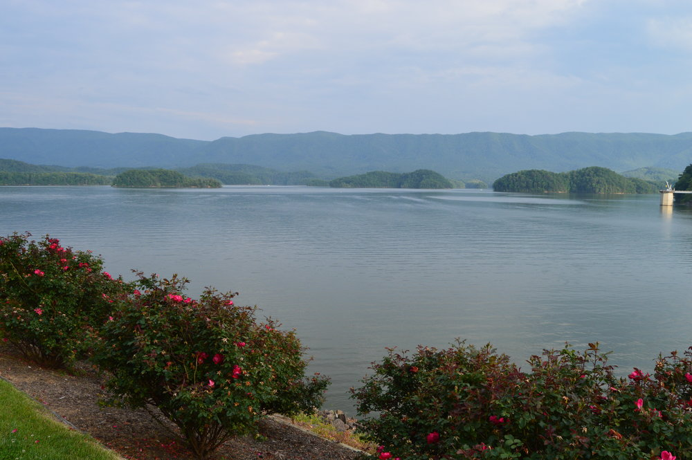 Most of the shores of South Holston Lake are surrounded by the Cherokee National Forest. The dam holding back the waters of the South Fork of the Holston River is one of the largest earthen dams in the world.