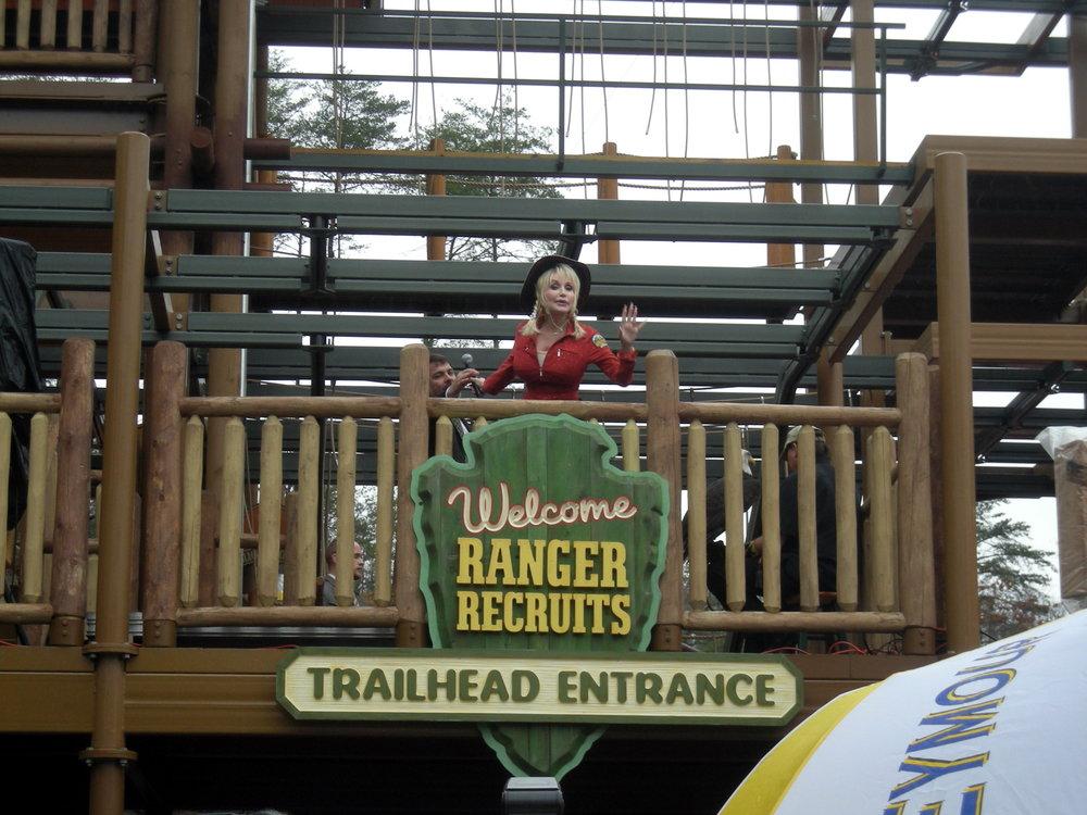 Dolly Parton at Adventure Mountain at Dollywood