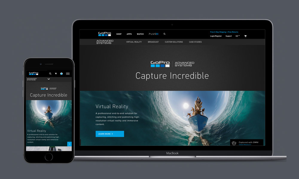 GoPro advanced systems - Telling new product stories for the professional consumer.