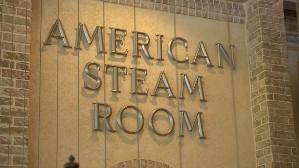 AMERICAN STEAM ROOM - Provides moist heat from 110-114 degrees Fahrenheit with a humidity level of 90 percent. Beneficial for everybody and especially people with respiratory problems, such as asthma or bronchitis. The inhalation of steam is effective in relieving the symptoms of these conditions.