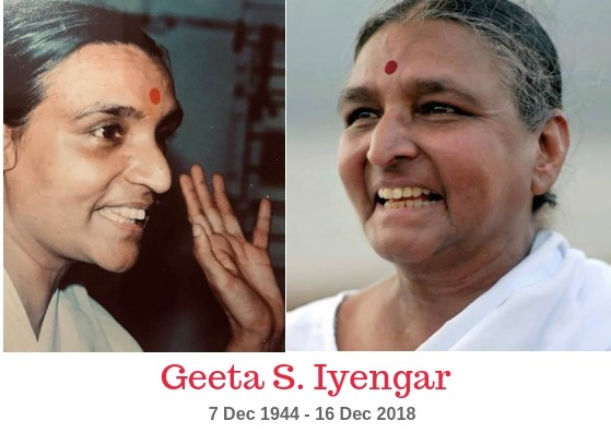 Our beloved Geetaji passed away unexpectedly on Sunday. We are profoundly saddened. Geetaji was a leader and visionary in the practice and art of yoga. Teachers and practitioners of the Iyengar Yoga Institute of Bondi Junction are truly blessed to have been touched by her wisdom and generosity. Our love and prayers are with Geetaji and our heartfelt sympathy goes out to all her family.🙏  Read about Smt Geeta S Iyengar -  https://timesofindia.indiatimes.com/city/pune/geeta-iyengar-renowned-yoga-exponent-passes-away-at-74/articleshow/67119933.cms