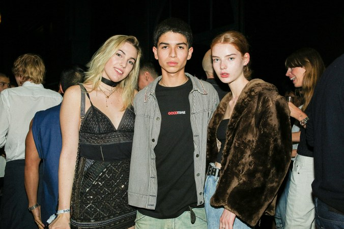 Models Ernesto and Alyda and me at the Calvin Klein after party.  Photo: Serichai Traiproom for W Magazine.