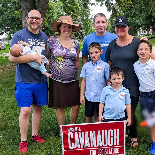 I love meeting families in my district. Thank you to the Towey family for being a first responders family. It is a sacrifice of service made by families, not just individuals. I will fight for your dad to have safety and appropriate benefits when I am in the legislature.