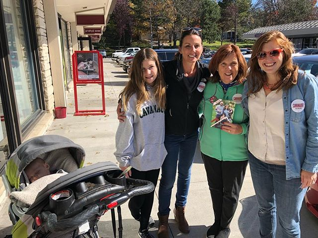 Thank you Cavanaugh ladies for some pregame door knocking!