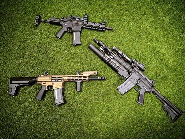 Choose but choose wisely. which one do you grab? @haleystrategicofficial @dragonflyhaley SOPMOD @ptssyndicate VIRGO MK1 @classicarmyusa DT4 💪😎🤘💥⚖️ #sopmod #ptssyndicate #haleystrategicpartners #haleystrategic #classicarmy #m4 #blasters #m4a1 #dt4 #virgo #mk1#thotvaccine