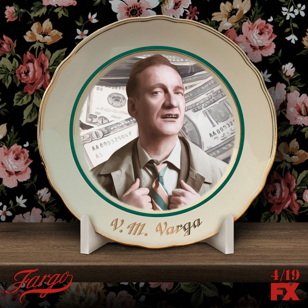 Fargo Plates - A series of collectible plates designed to represent each character's unique personality on the show.