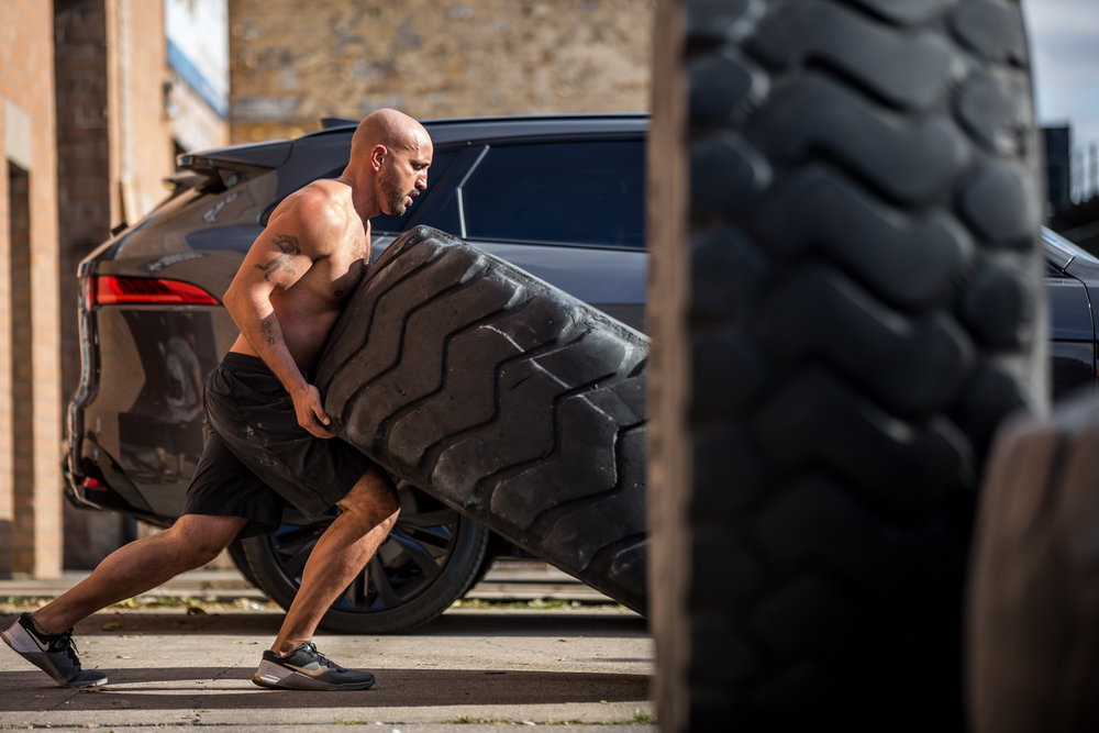 - 3 Rounds For Time50' Tire Flip25 Pull Up50 Dumbbell Overhead Lunge