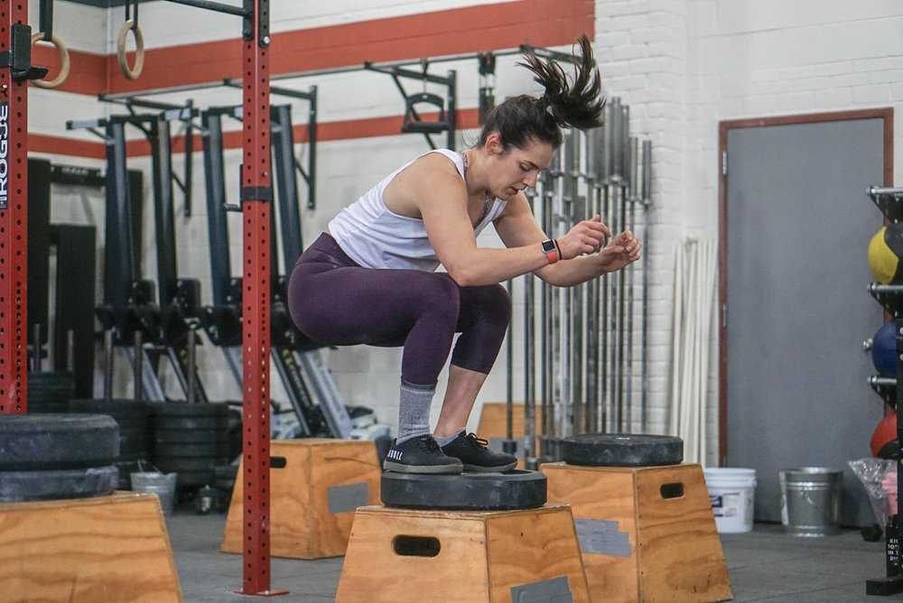 - Establish a Max Height Box Jump--------------------10 Rounds2 Minutes to Complete10 Box Jump (24/20)AMRAP Double UnderRest 30 Seconds