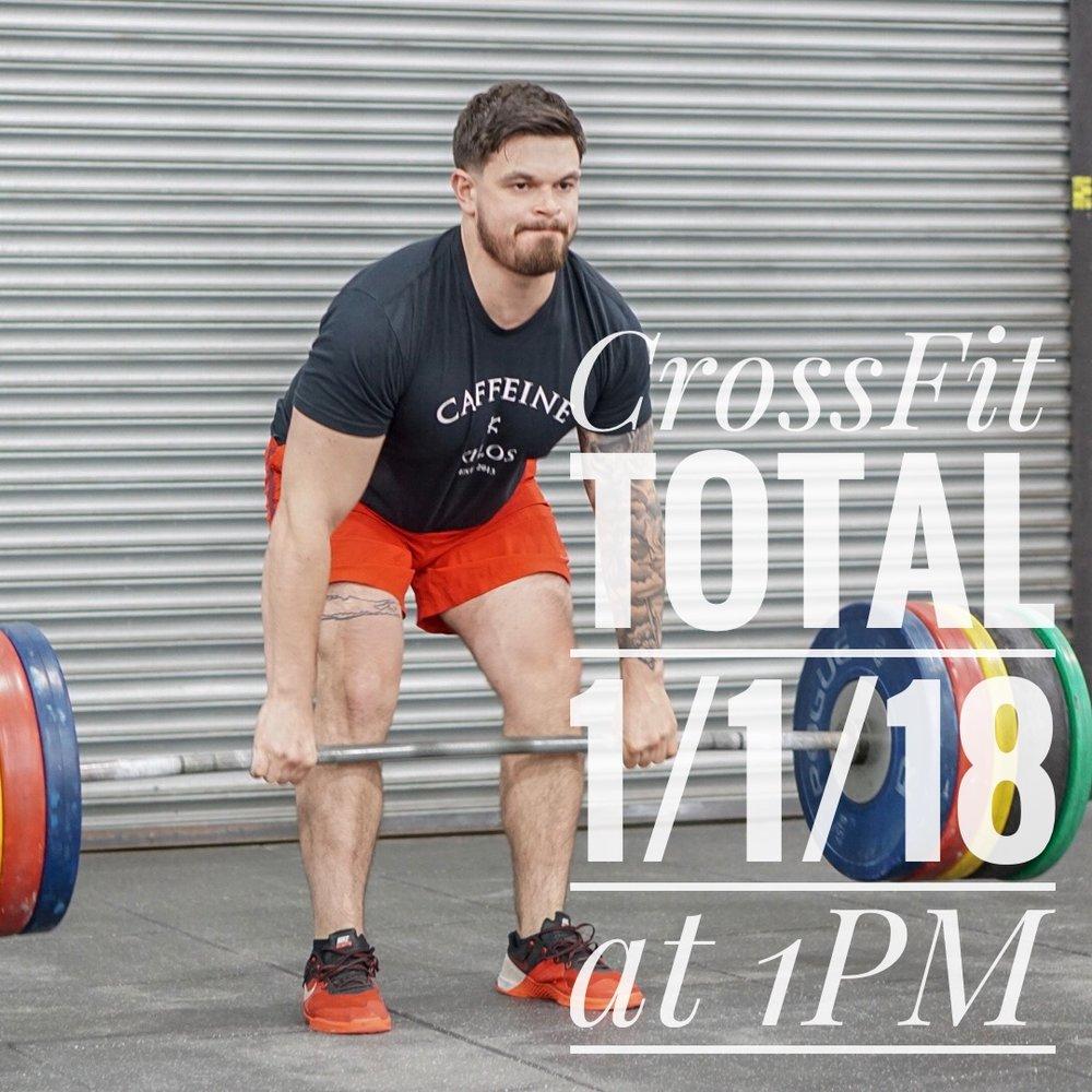 - CrossFit Total3 Attempts to Establish1RM Squat1RM Press1RM Deadlift