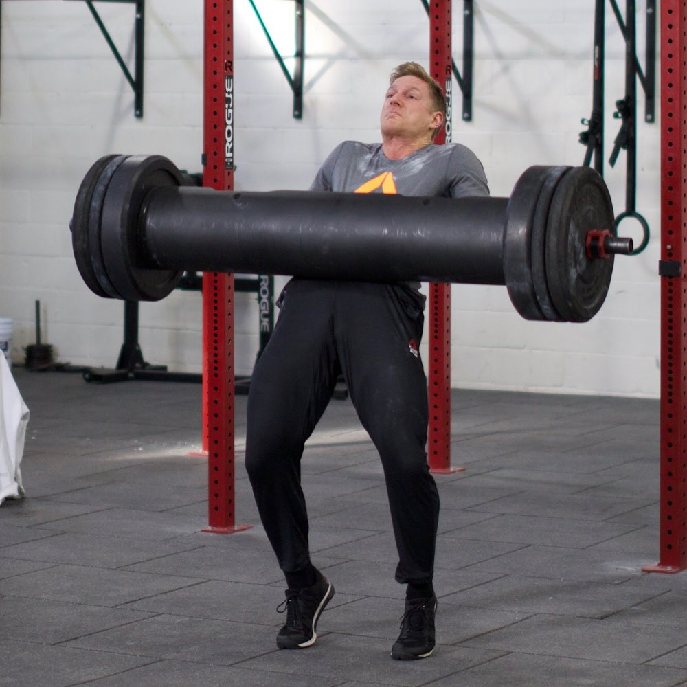 - 20 Minutes to Establish a 50' Unbroken Yoke CarryThen20 Minutes to Establish a 1RM Back Squat