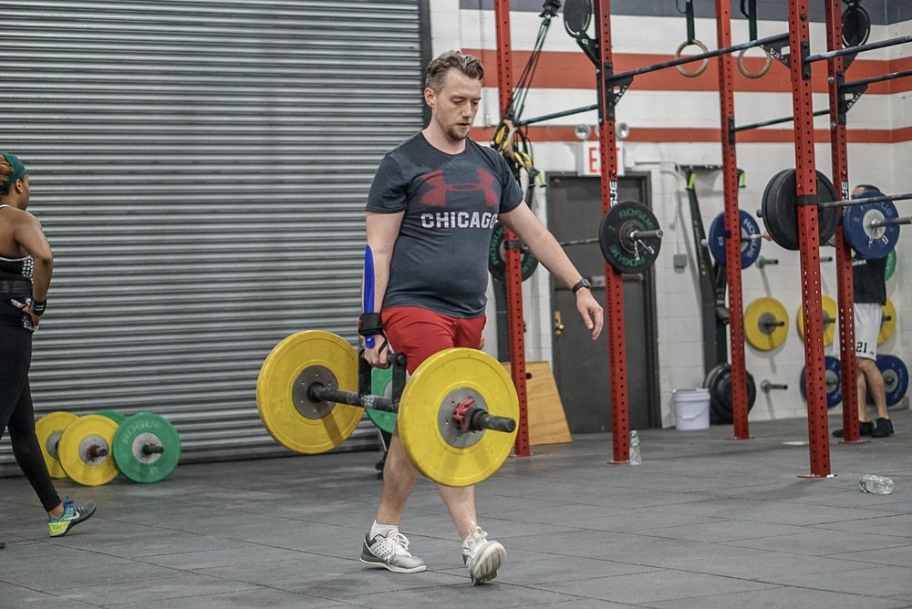 - 30 Minute AMRAPIn teams of 5, follow the leader style15' Rope Climb2 Stone Load10 Dumbbell Push Press
