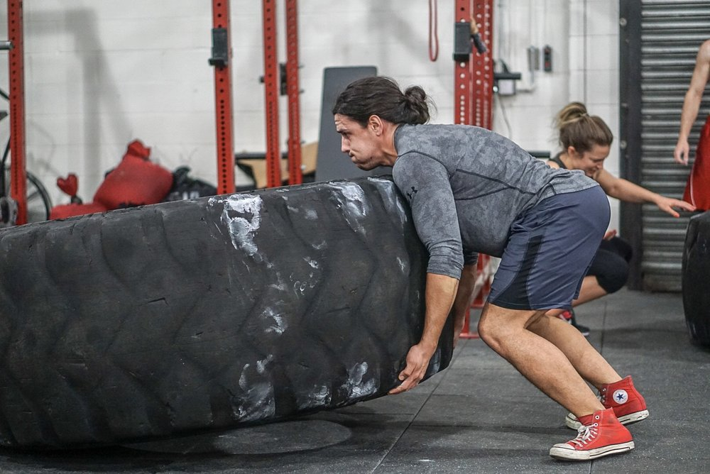 - 5-4-3-2-1 Back Squatbetween each round, performs80' Keg Carry1 Stone Load