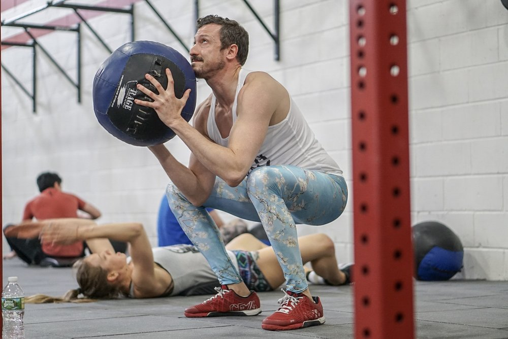 - Skill and Drill: Rope Climb--------------------5 Rounds15 Dumbbell Thruster (50/35)50 Double Under3 Rope Climb (15')