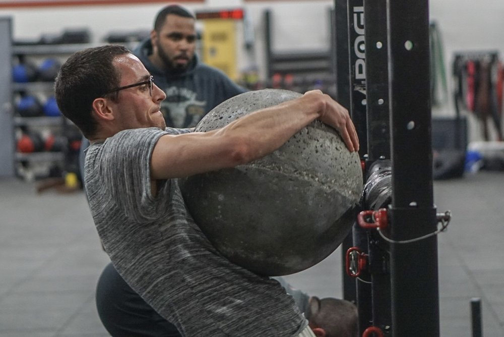 - Skill and Drill: Circus Dumbbell Clean and Press-------------------Every 90 seconds Minute for 18 Minute1 Continental Clean and Jerk6 Dumbbell Push Press (or One Circus Dumbbell Press)30 Double Under