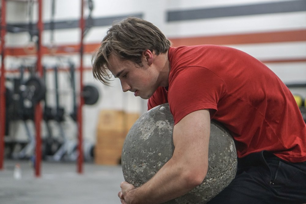 - 10 Round of1 Minute to Complete3 Overhand Axle DeadliftsAMRAP Wallball Shot (20/14)Rest 1 Minute