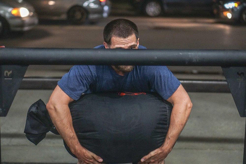 - Back Rack Lunge10-10-10--------------------5-4-3-2-1 Stone to Shoulder50' Dumbbell Front Rack Lunge
