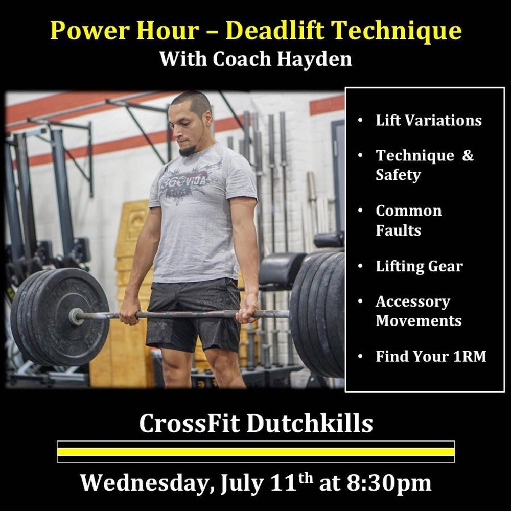 - Every 3 Minutes for 24 Minutes12/10 Calorie Row10 Strict Press (95/65)2 Stone to Shoulder (AHAP)Reminder: Power Hour tonight at 8:30PM - Deadlift with coach Hayden