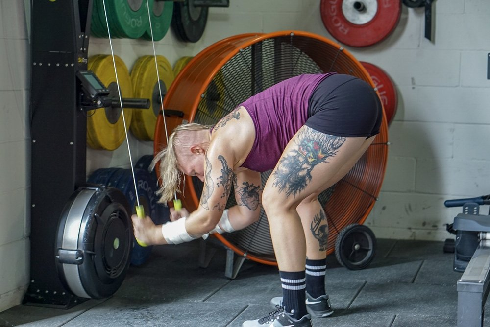 """- """"Chief""""5 Rounds3 Minute AMRAP  3 Power Clean (135/95)  6 Push-up  9 Air SquatRest 1 Minute"""
