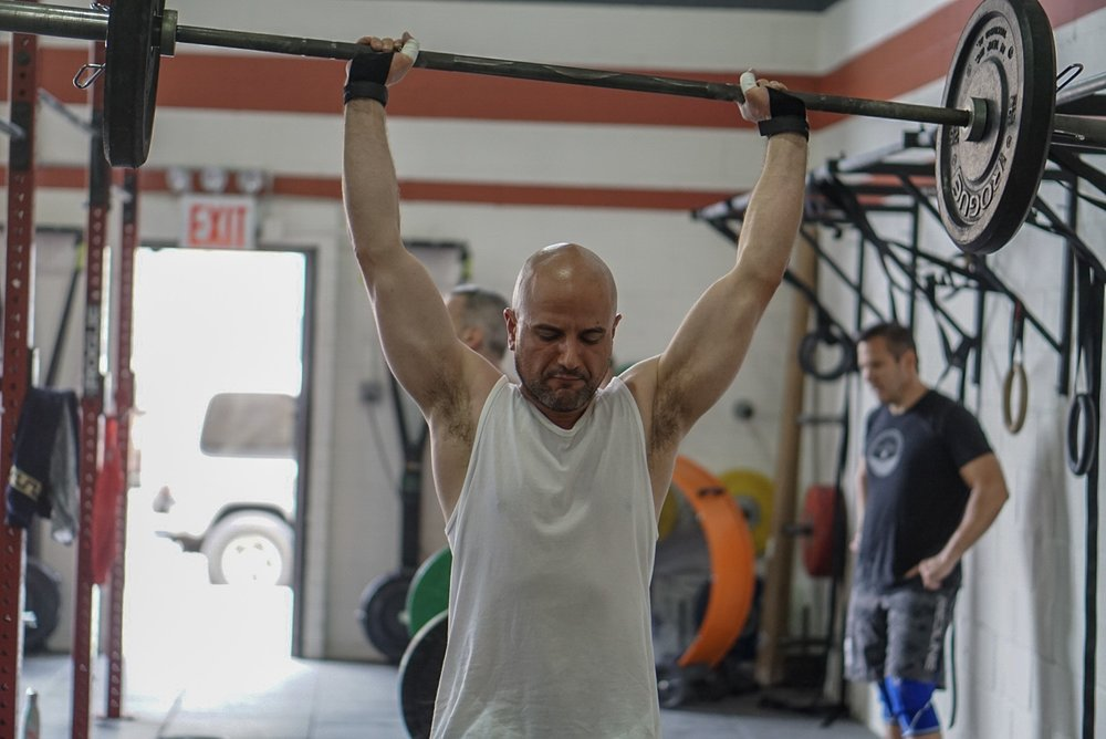 - 15 Minutes to Warm-up to your opening Clean attempt——————————CrossFit 18.2a and 18.2b1-2-3-4-5-6-7-8-9-10 for time completeDumbbell Squat (50/35/20)Bar-facing Burpee<then>1RM CleanTime cap: 12 Minutes