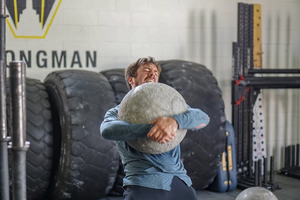 - 8 Rounds For Time50' Farmer Carry (AHAP)3 Push Jerk (AHAP/UB)