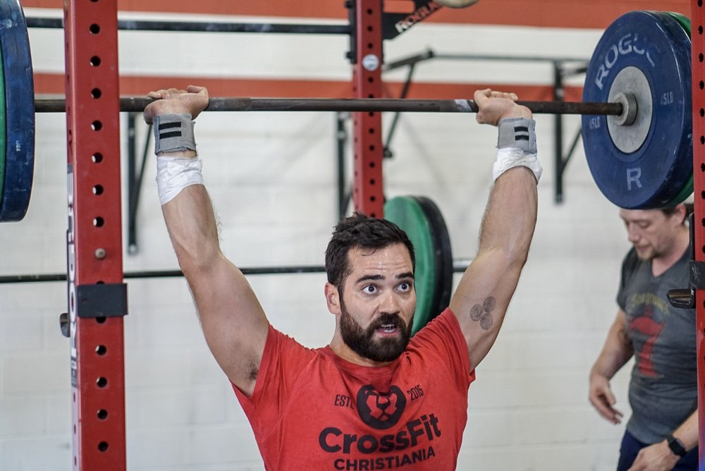 - 20 Minutes to Strict Press2x5 @ 50% of 1RM1x3 @ 60% of 1RM1x2 @ 65% of 1RM3x5 @ 70% of 1RM——————————5 Rounds2 Wallwalk10 Box Jump Over (24/20)20 Dumbbell Snatch (50/35)