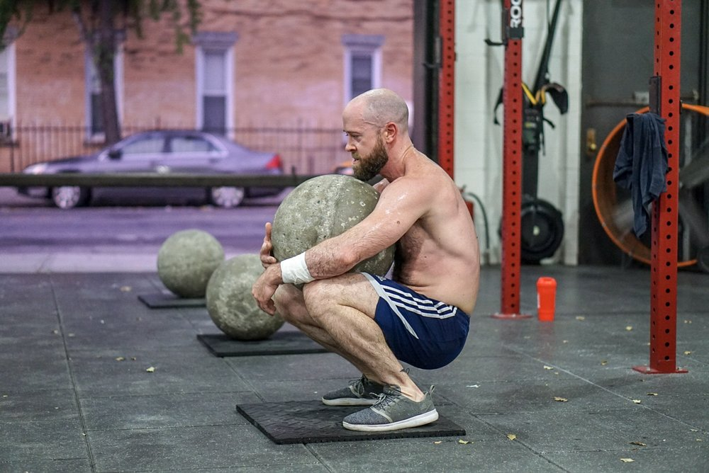 - Atlas Stone ChiefAMRAP in 3 minutes3 Stone to Shoulder6 Push-Ups9 Air SquatsRest 1 minuteRepeat 5 Times
